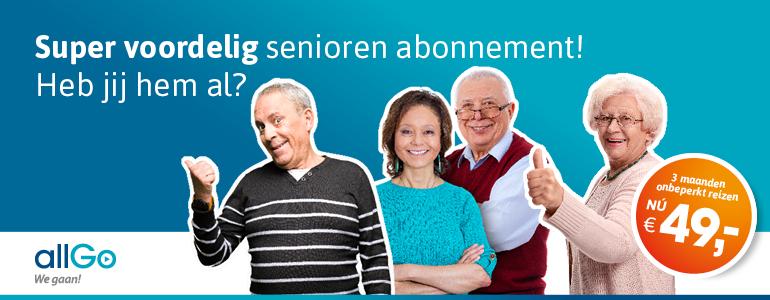 Speciaal voor 65+'ers: Nu verkrijgbaar in de webshop of bij de allGo servicewinkel