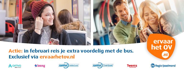 In februari reis je extra voordelig met de bus. Exclusief via ervaarhetov.nl